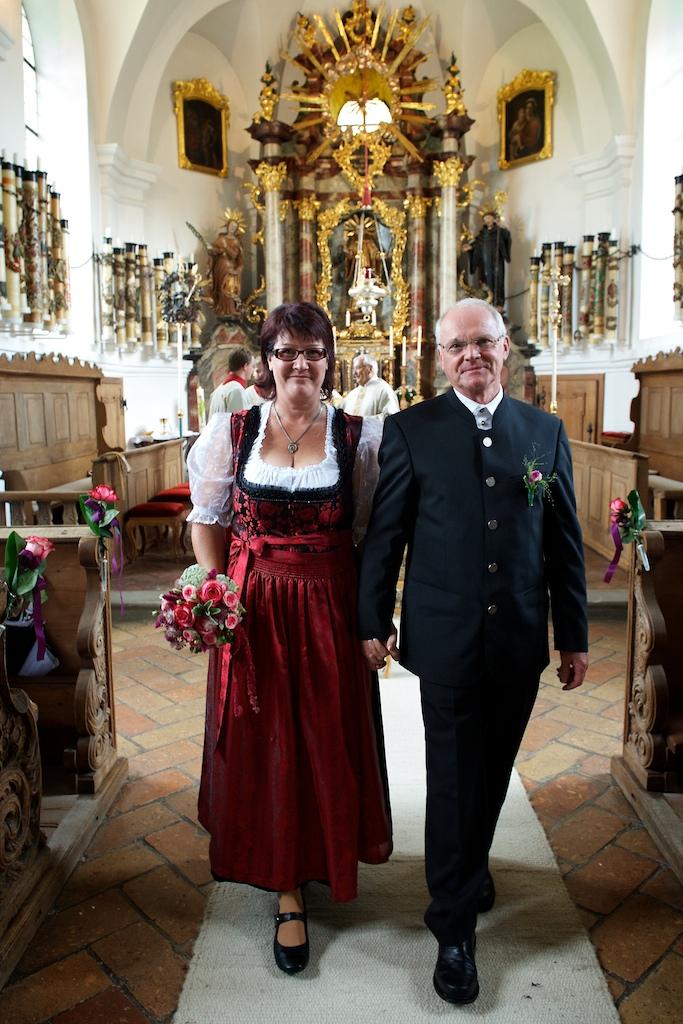 Hochzeitsfoto nach der Kirchlichen Trauung
