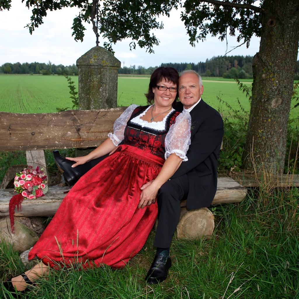 Hochzeitsfoto in der Nähe von Schloß Igling
