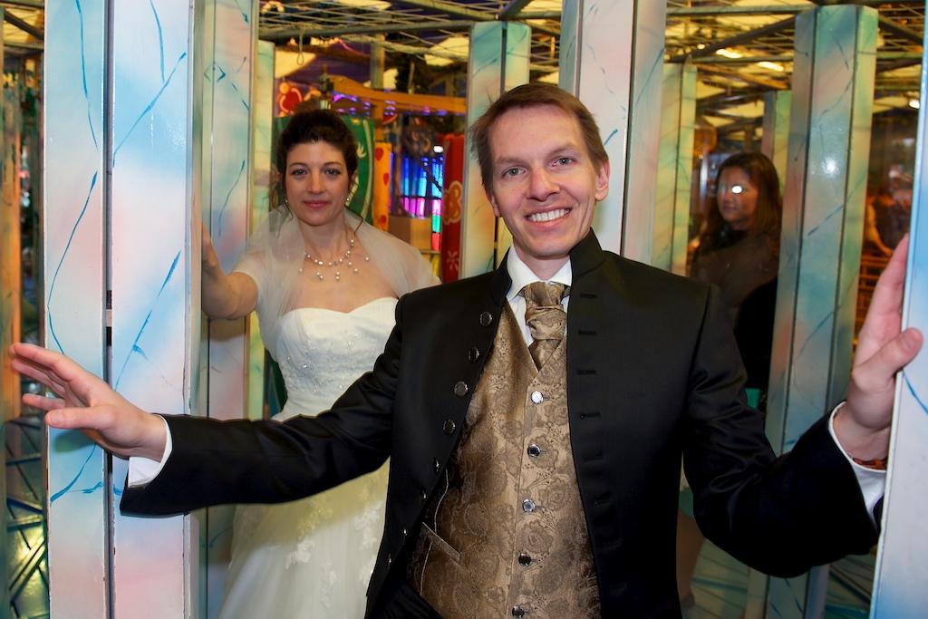 Hochzeitsbild auf der Wiesn
