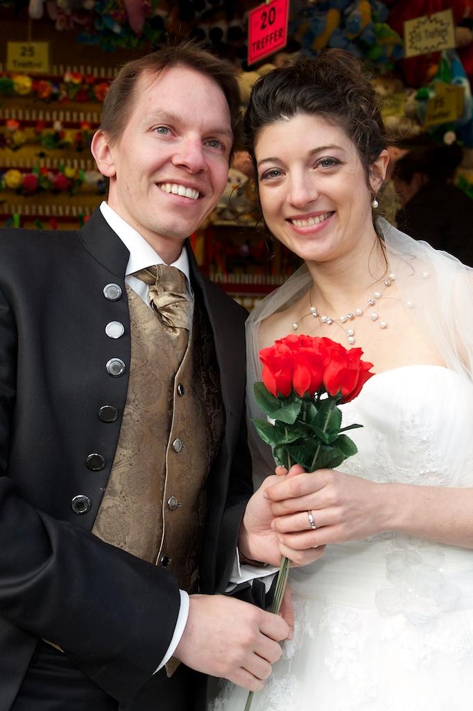 Hochzeitdsbild auf dem Oktoberfest
