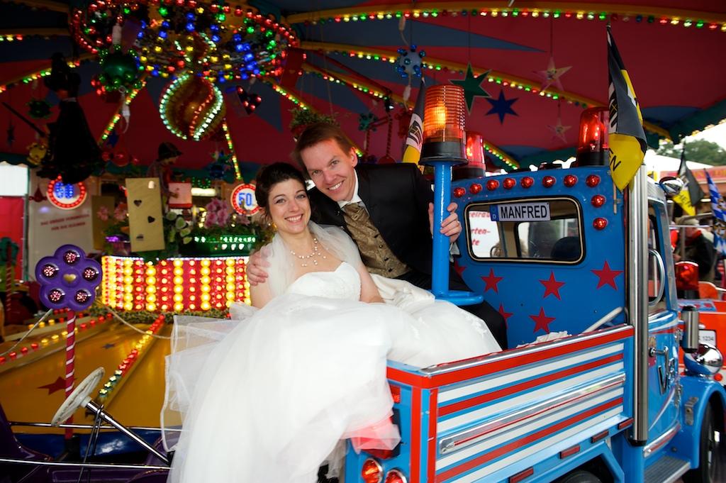 Hochzeitsfoto auf der Münchner Wiesn