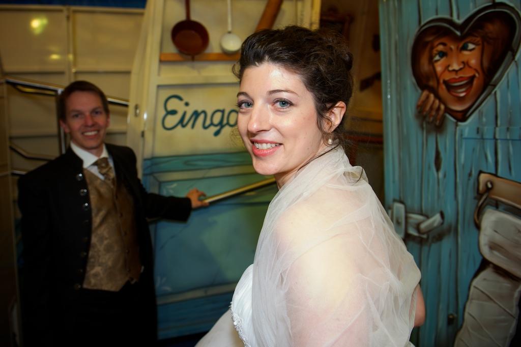Hochzeitsfoto auf der Wiesn