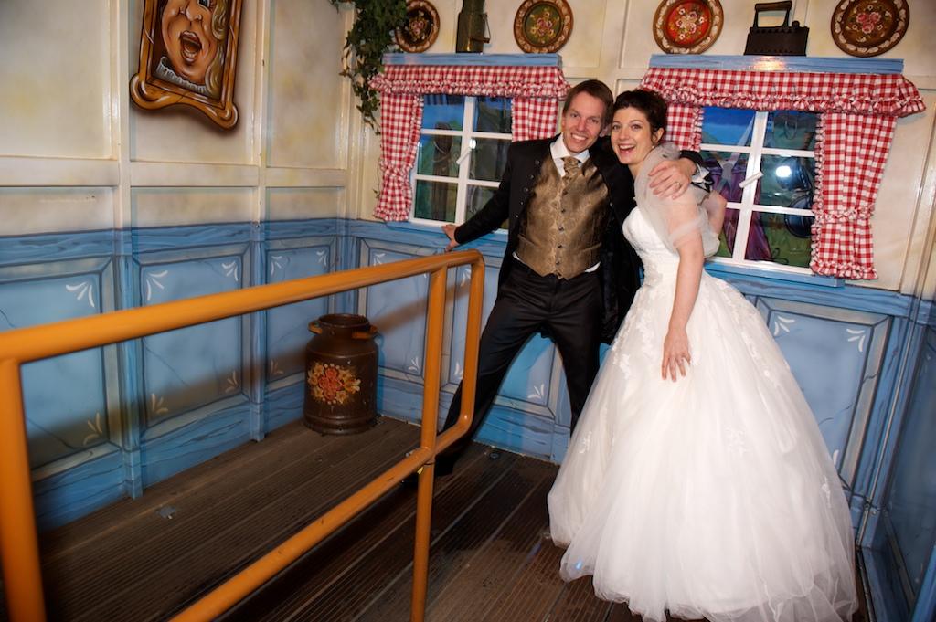 Hochzeitsfoto auf der Historischen Wiesn