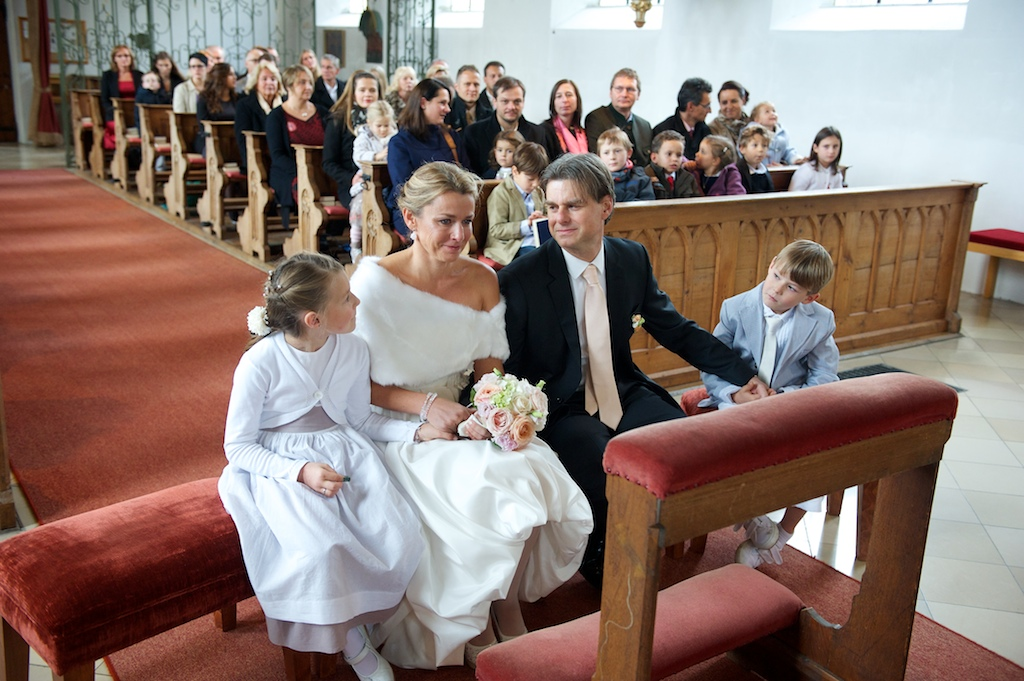 Hochzeitsfoto in der Kirche