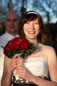 20 Brautfoto mit Brautstrauss