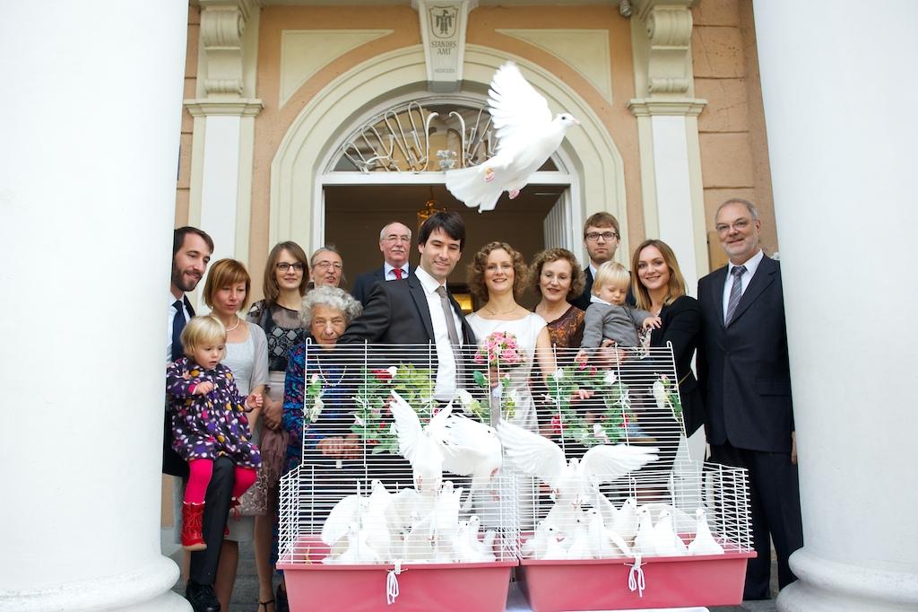 Hochzeitstauben Mandlstraße