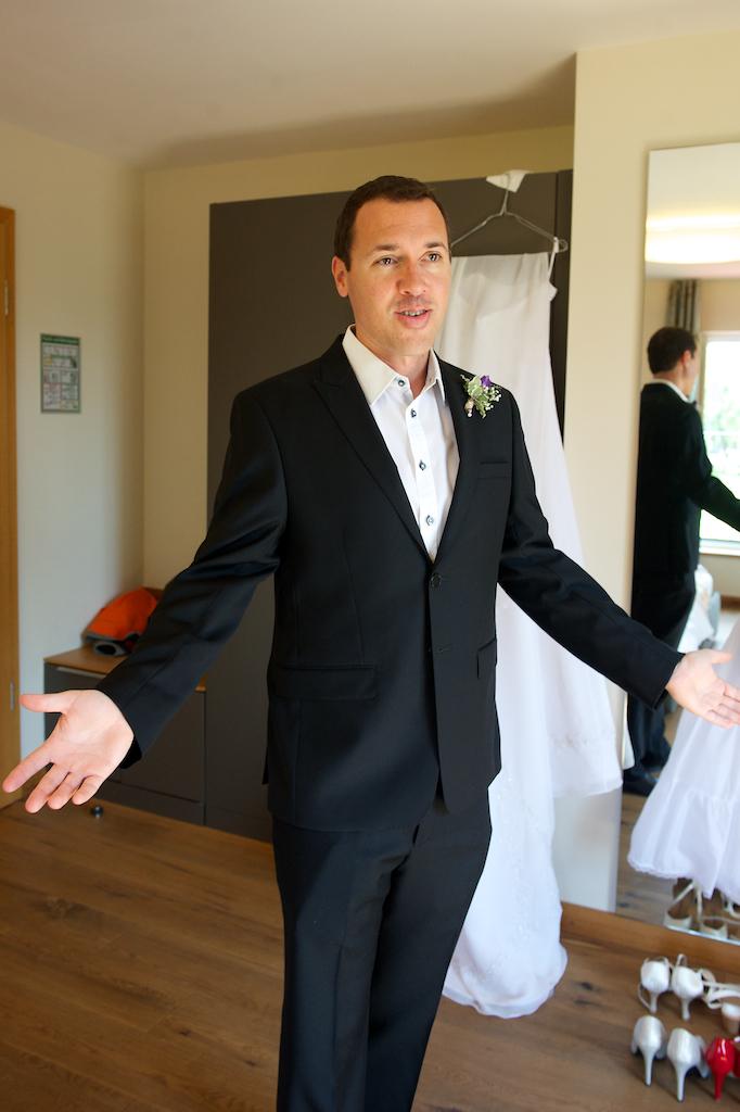 Ankleidefoto Hochzeit