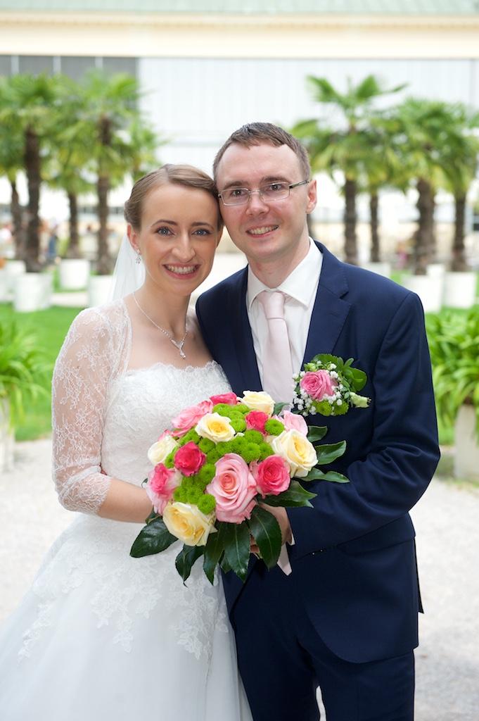 Hochzeitsfoto Palmgarten